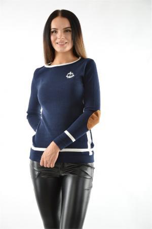 Пуловер GIORGIO DI MARE. Цвет: темно-синий