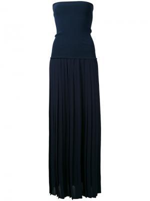 Приталенное платье шифт без бретелек Antonio Marras. Цвет: синий
