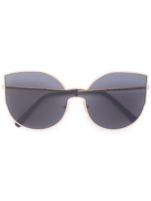 Солнцезащитные очки в оправе кошачий глаз Retrosuperfuture. Цвет: металлический