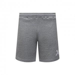 Хлопковые шорты Sport Kenzo. Цвет: серый