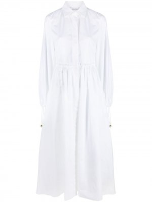 Платье-рубашка с рукавами бишоп Max Mara. Цвет: белый