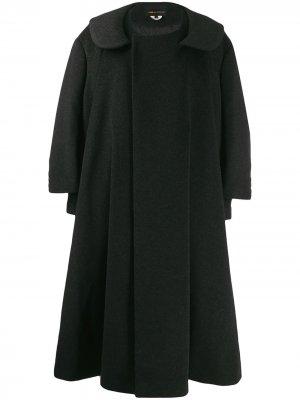Пальто-кейп с двойными рукавами Comme Des Garçons. Цвет: серый