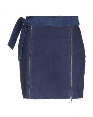 Мини-юбка J BRAND. Цвет: темно-синий