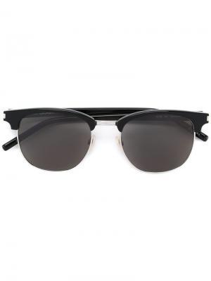 Солнцезащитные очки Classic 108 Saint Laurent Eyewear. Цвет: черный