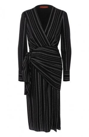 Шелковое платье Altuzarra. Цвет: черный