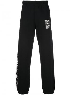 Спортивные брюки с принтом Mona Lisa Off-White. Цвет: черный