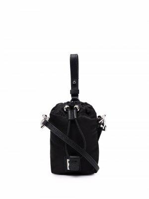 Сумка с кулиской и логотипом Givenchy. Цвет: черный