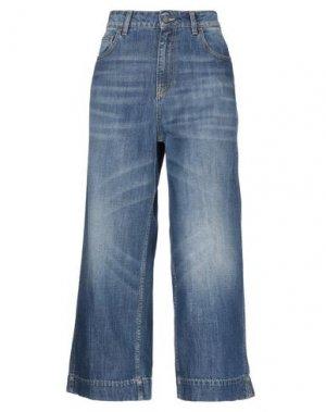 Джинсовые брюки SUOLI. Цвет: синий