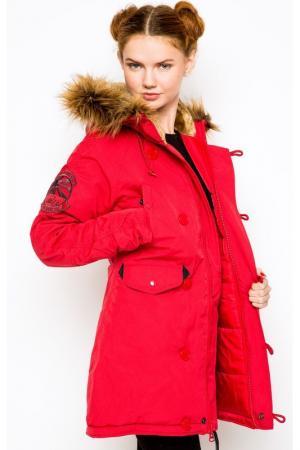 Куртка Alpha Industries. Цвет: красный