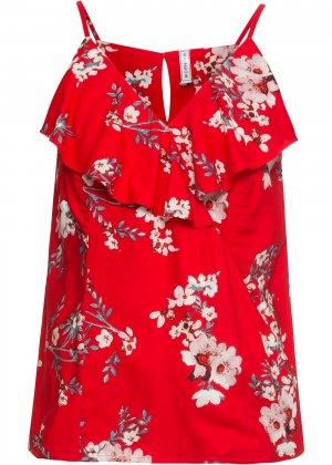 Блузка без рукавов bonprix. Цвет: красный