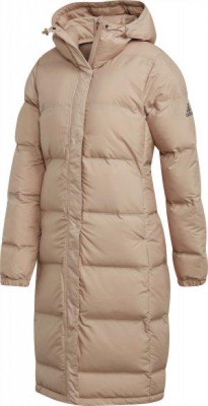 Куртка утепленная женская Helionic, размер 52-54 Adidas. Цвет: бежевый