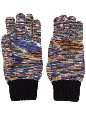 Трикотажные перчатки Multicolour Missoni. Цвет: оранжевый