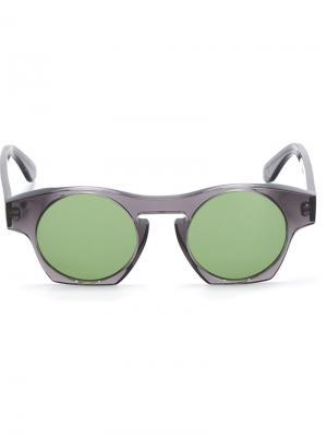 Солнцезащитные очки Monocle Eyewear. Цвет: серый