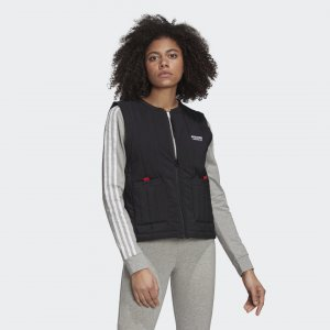 Жилет R.Y.V. Originals adidas. Цвет: черный
