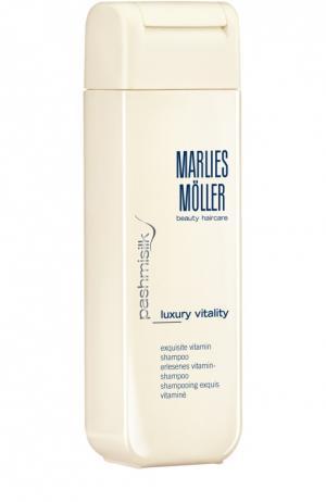Витаминный шампунь для волос Marlies Moller. Цвет: бесцветный