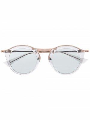 Солнцезащитные очки Oskari в круглой оправе Christian Roth. Цвет: серый
