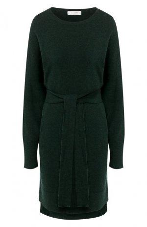 Платье из смеси шерсти и кашемира Cruciani. Цвет: зелёный