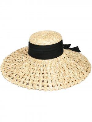 Соломенная шляпа Mirabel Eugenia Kim. Цвет: желтый