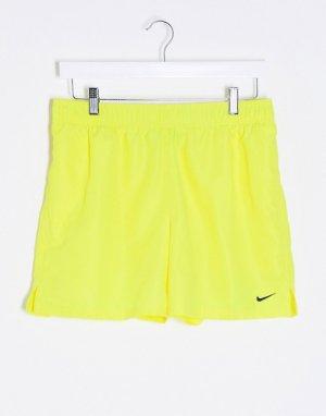 Желтые волейбольные шорты , 5 дюймов-Желтый Nike Swimming