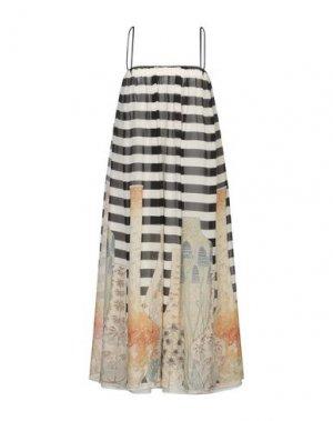 Платье длиной 3/4 ANDREA TURCHI. Цвет: слоновая кость