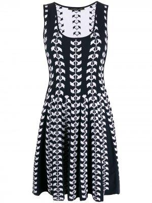 Расклешенное платье без рукавов Antonino Valenti. Цвет: синий