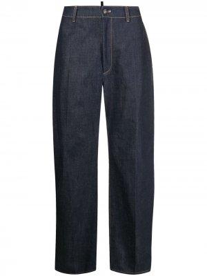 Широкие джинсы Dsquared2. Цвет: синий