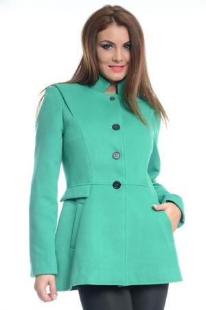 Пальто Ines Collezione. Цвет: зеленый