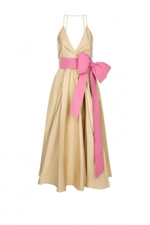 Платье No.21. Цвет: бежевый