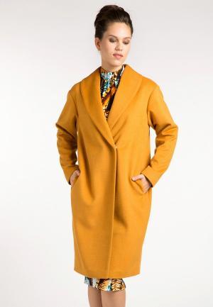 Пальто YuliaSway Yulia'Sway MP002XW1AS1G. Цвет: оранжевый