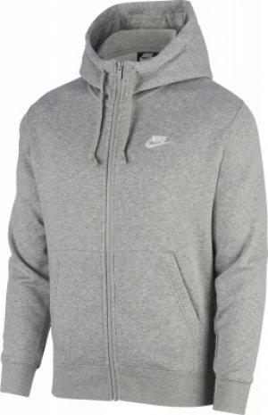 Толстовка мужская Sportswear Club Fleece, размер 52-54 Nike. Цвет: серый