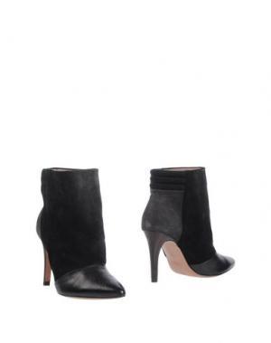 Полусапоги и высокие ботинки INTROPIA. Цвет: черный
