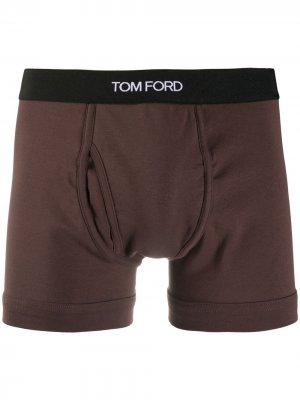 Боксеры с логотипом Tom Ford. Цвет: коричневый