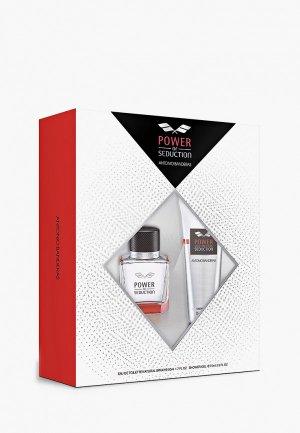 Набор парфюмерный Antonio Banderas Power Of Seduction Туалетная вода 50 мл+гель для душа 75 мл. Цвет: прозрачный