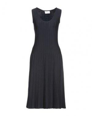 Платье миди SALVATORE FERRAGAMO. Цвет: темно-синий