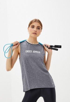 Майка спортивная Under Armour Recovery Sleepwear Tank. Цвет: серый