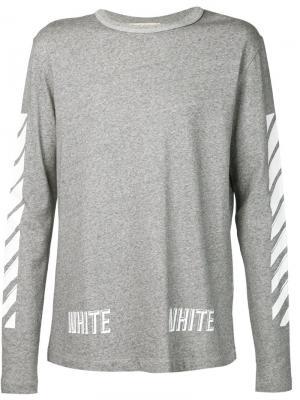 Футболки и жилеты Off-White. Цвет: серый