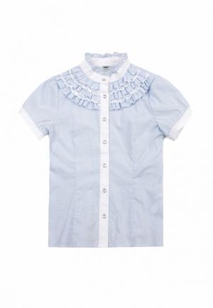 Блуза SCool S'Cool. Цвет: голубой