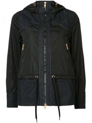 Куртка с джинсовыми панелями Moncler. Цвет: чёрный