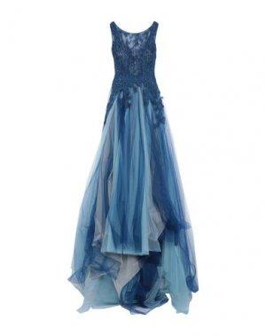 Длинное платье NICOLE. Цвет: синий