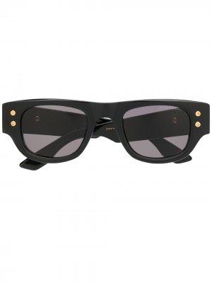Солнцезащитные очки Muskel в квадратной оправе Dita Eyewear. Цвет: черный