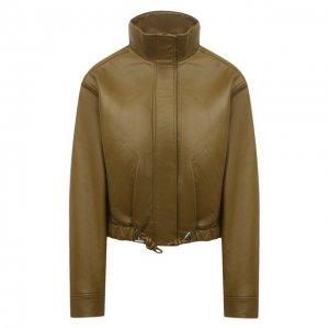 Кожаная куртка Proenza Schouler White Label. Цвет: хаки