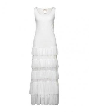 Длинное платье FUZZI. Цвет: белый