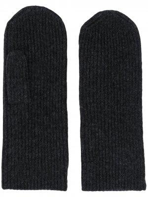 Варежки в рубчик Isabel Marant. Цвет: черный