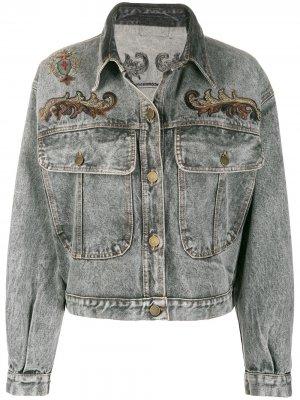 Джинсовая куртка 1980-х годов с вышивкой A.N.G.E.L.O. Vintage Cult. Цвет: серый