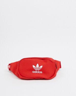 Красная сумка-кошелек на пояс с логотипом -Красный adidas Originals