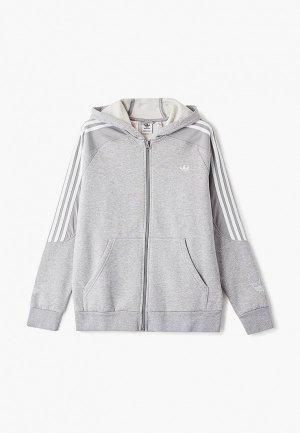 Толстовка adidas Originals. Цвет: серый