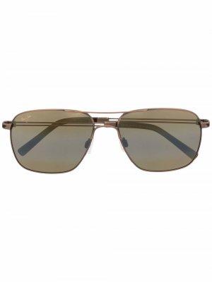 Солнцезащитные очки-авиаторы Maui Jim. Цвет: коричневый