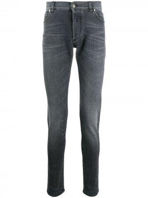 Прямые джинсы Balmain. Цвет: серый