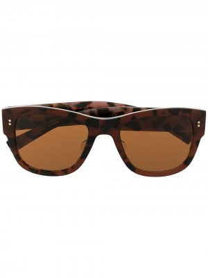 Солнцезащитные очки в прямоугольной оправе Dolce & Gabbana Eyewear. Цвет: красный