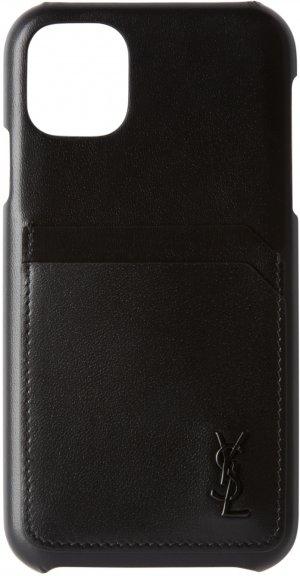 Black iPhone 11 Case Saint Laurent. Цвет: 1000 nero